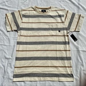Men's Striped Beige Imperial Motion Shirt